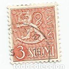 Sellos: 2 SELLOS USADOS DE FINLANDIA DE 1954- ESCUDO DE ARMAS- YVERT 410- VALOR 3 MARCOS. Lote 235121925
