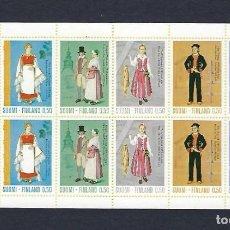 Sellos: FINLANDIA. AÑO 1972. TRAJES NACIONALES. CARNÉ DE 10 SELLOS.. Lote 235310320