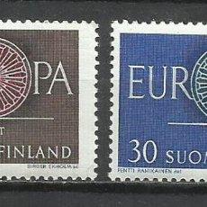 Sellos: 8197-MNH** SERIE COMPLETA FINLANDIA SUOMI FINLAND EUROPA 1960 Nº501/2. Lote 235554685