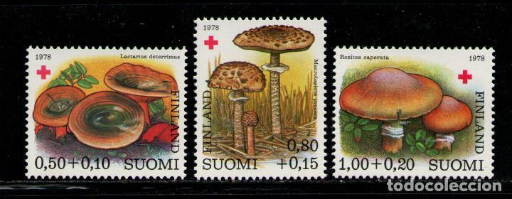 FINLANDIA 1978 IVERT 796/8 *** FLORA - SETAS - CHAMPIÑONES - PRO CRUZ ROJA (Sellos - Extranjero - Europa - Finlandia)