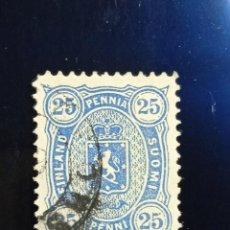 Sellos: FINLANDIA SUOMI 25 PEN, ESCUDO ARMAS, AÑO 1889. Lote 236431100