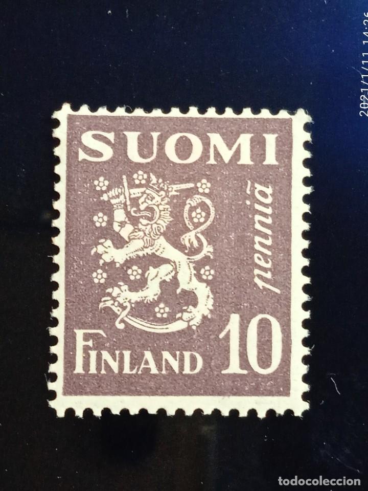 FINLANDIA SUOMI 10 PEN, ESCUDO ARMAS, AÑO 1930. (Sellos - Extranjero - Europa - Finlandia)