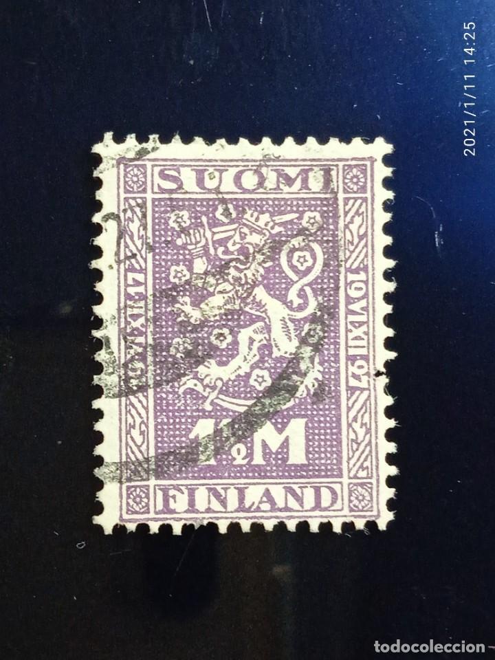 FINLANDIA SUOMI 1,1/M, ESCUDO ARMAS, AÑO 1927. (Sellos - Extranjero - Europa - Finlandia)