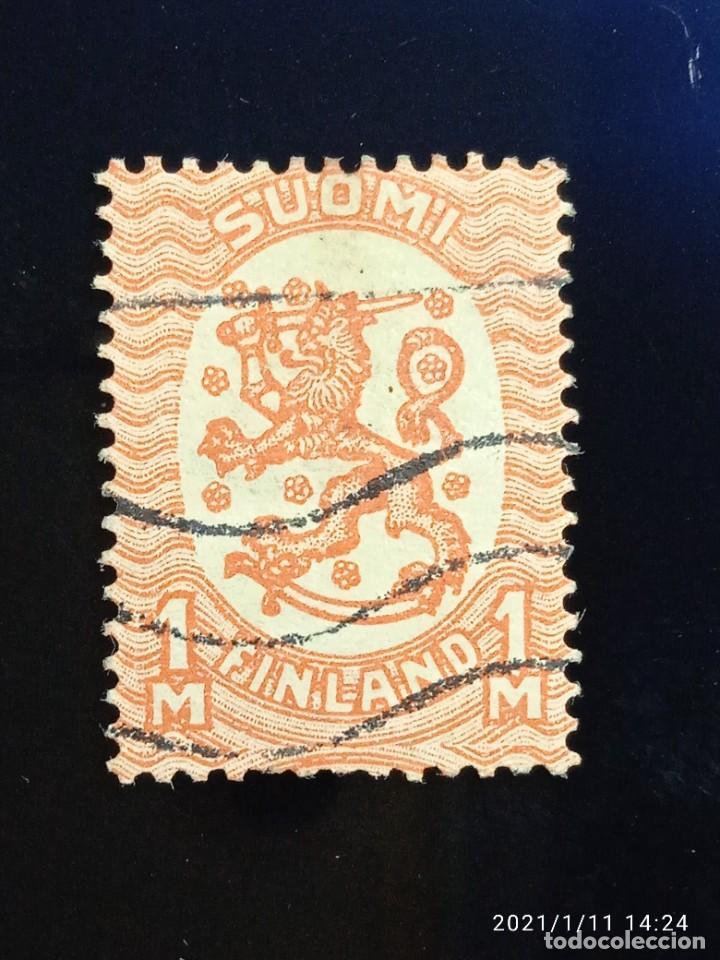FINLANDIA SUOMI 1M, ESCUDO ARMAS, AÑO 1917. (Sellos - Extranjero - Europa - Finlandia)