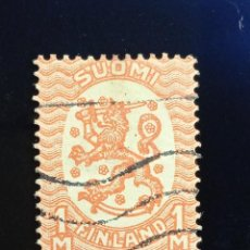 Sellos: FINLANDIA SUOMI 1M, ESCUDO ARMAS, AÑO 1917.. Lote 236436870