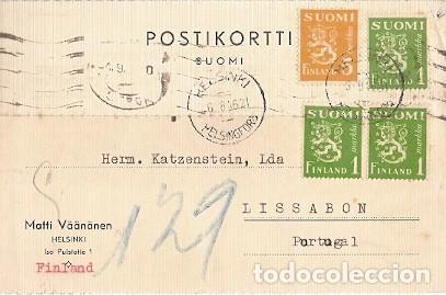 FILANDIA & MARCOFILIA, HELSINKI, HELSINGFORS A LISBOA 1946 (76888) (Sellos - Extranjero - Europa - Finlandia)