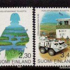 Sellos: FINLANDIA 1178/79** - AÑO 1993 - 75º ANIVERSARIO DE LA DEFENSA NACIONAL. Lote 243422735