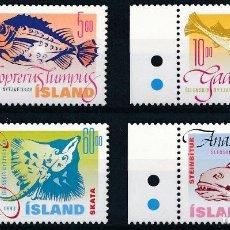 Sellos: ISLANDIA 1998 IVERT 841/4 *** FAUNA - AÑO INTERNACIONAL DE LOS OCÉANOS - PECES DE MAR (I). Lote 243626475