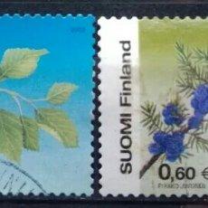 Sellos: FINLANDIA 2002 FLORES SERIE DE SELLOS USADOS. Lote 243935040