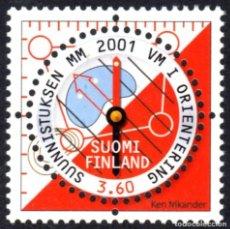 Sellos: FINLANDIA 2001 - CAMPEONATO DEL MUNDO DE CARRERAS DE ORIENTACION - YVERT Nº 1542**. Lote 244188075