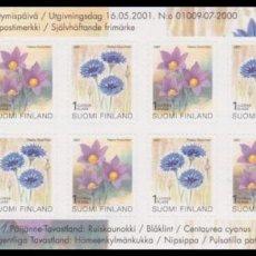 Sellos: FINLANDIA 2001 - FLORES - YVERT Nº 1534-1535** EN CARNET. Lote 244188730