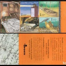 Sellos: FINLANDIA 2001 - EL GOLFO DE FINLANDIA - YVERT Nº 1543/1547** EN CARNET. Lote 244189800