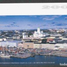 Sellos: FINLANDIA 2000 - 450 AÑOS DE HELSINKI - 1469/1476 EN CARNET PRESTIGE - SPECIMEN. Lote 244204150