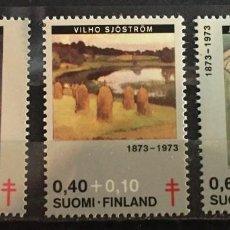 Sellos: FINLANDIA, A FAVOR DE LA TUBERCULOSIS. Lote 244992110