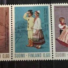 Sellos: FINLANDIA, DISFRACES NACIONALES. Lote 244992520