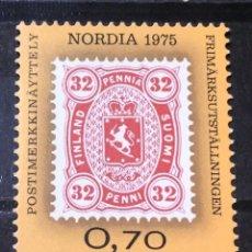 """Sellos: FINLANDIA, EXPOSICION FILATELICA NORDICA """"NORDIA 1975"""". Lote 244993690"""