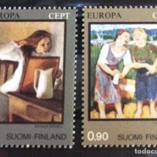 Sellos: FINLANDIA.SERIE EUROPA, CUADROS DIVERSOS. Lote 244994455