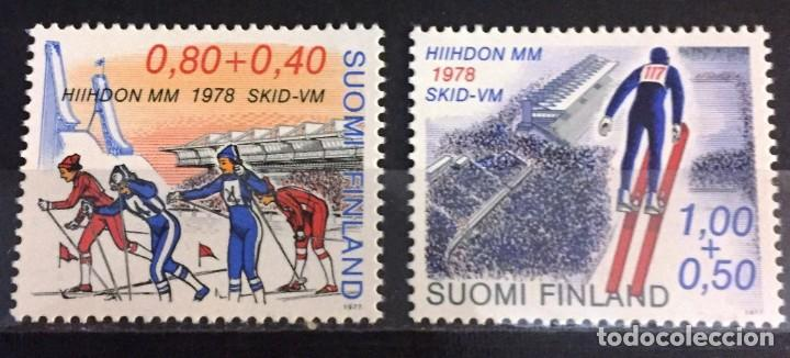 FINLANDIA, CAMPEONATO MUNDIAL SKI A LAHTI 1978 (Sellos - Extranjero - Europa - Finlandia)