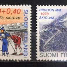 Sellos: FINLANDIA, CAMPEONATO MUNDIAL SKI A LAHTI 1978. Lote 244998715