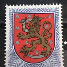 Sellos: FINLANDIA, ESCUDOS NACIONALES. Lote 244999095