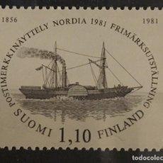 Sellos: FINLANDIA, NORDIA 1981. Lote 245000680