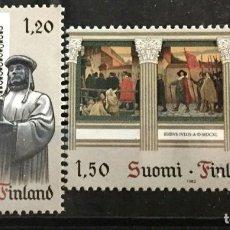 Sellos: FINLANDIA, EUROPA, HECHOS HISTORICOS. Lote 245002195