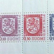 Sellos: FINLANDIA, ESCUDOS NACIONALES. Lote 245003320