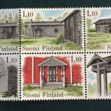 Sellos: FINLANDIA, ARQUITECTURA DEL PAIS. Lote 245004090