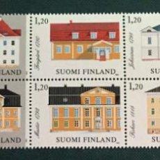 Sellos: FINLANDIA, ARQUITECTURA FINLANDESA. Lote 245004430