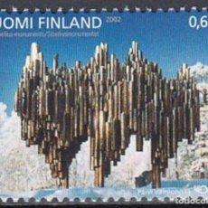 Sellos: FINLANDIA 2002 - NORDEN - ARTE CONTEMPORANEO - MONUMENTO A SIBELIUS - YVERT Nº 1590**. Lote 245073595