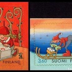 Sellos: FINLANDIA 2001 - NAVIDAD - NOEL - CHRISTMAS - YVERT Nº 1554/1555**. Lote 245073620