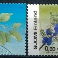 Sellos: FINLANDIA FLORES SERIE DE SELLOS USADOS. Lote 254895630