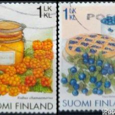 Sellos: FINLANDIA 2006 POSTRES DE FRUTAS SERIE DE SELLOS USADOS. Lote 254903420