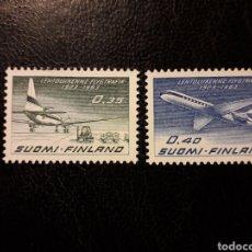 Sellos: FINLANDIA YVERT A-10/1 SERIE COMPLETA NUEVA *** 1963 AVIONES. AVIACIÓN PEDIDO MÍNIMO 3€. Lote 260594795