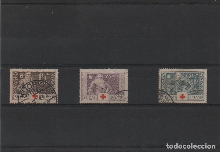 SERIE COMPLETA USADA DE FINLANDIA DE 1934. TEMA CRUZ ROJA (Sellos - Extranjero - Europa - Finlandia)