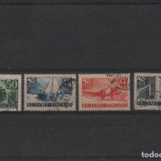 Sellos: SERIE COMPLETA USADA DE FINLANDIA DE 1938. TRICENTENARIO DEL CORREO EN FINLANDIA. Lote 262009175