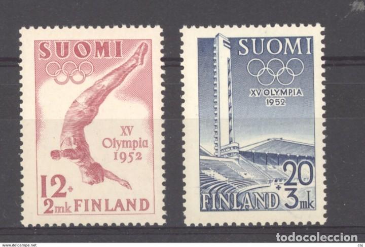 SELLOS NUEVOS CON LIGERAS MARCAS DE CHARNELAS DE FINLANDIA 1951, YT 382/ 83 (Sellos - Extranjero - Europa - Finlandia)