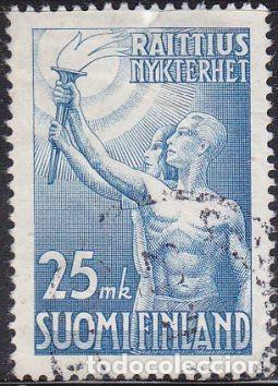 SELLO USADO DE FINLANDIA 1953, YT 399 (Sellos - Extranjero - Europa - Finlandia)