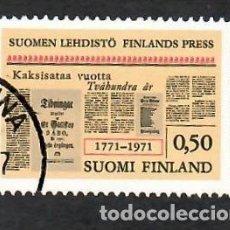 Sellos: LIQUIDACIÓN. FINLANDIA 1971, YVERT 656. BICENTENARIO DE LA PRENSA. INFORMACIÓN.. Lote 264107845
