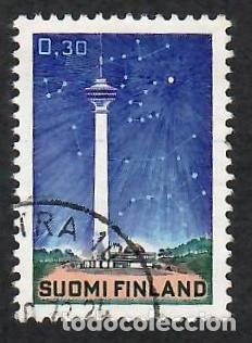 LIQUIDACIÓN. FINLANDIA 1971, YVERT 657. TORRE PLANETARIO DE TAMPERE. ASTRONOMÍA. (Sellos - Extranjero - Europa - Finlandia)