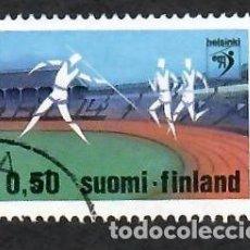 Sellos: LIQUIDACIÓN. FINLANDIA 1971, YVERT 660. CAMPEONATO EUROPA ATLETISMO. DEPORTES.. Lote 264108040