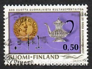 LIQUIDACIÓN. FINLANDIA 1971, YVERT 661. ORFEBRERÍA. DISEÑO. ARTE. ARTES APLICADAS. (Sellos - Extranjero - Europa - Finlandia)
