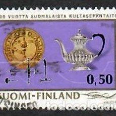 Sellos: LIQUIDACIÓN. FINLANDIA 1971, YVERT 661. ORFEBRERÍA. DISEÑO. ARTE. ARTES APLICADAS.. Lote 264186684