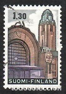 LIQUIDACIÓN. FINLANDIA 1971, YVERT 663. ESTACIÓN FERROCARRIL HELSINKI. ARQUITECTURA ART NOUVEAU. (Sellos - Extranjero - Europa - Finlandia)