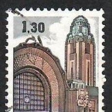Sellos: LIQUIDACIÓN. FINLANDIA 1971, YVERT 663. ESTACIÓN FERROCARRIL HELSINKI. ARQUITECTURA ART NOUVEAU.. Lote 264187296
