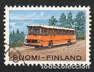LIQUIDACIÓN. FINLANDIA 1971, YVERT 664. AUTOBÚS POSTAL. CORREO. TRANSPORTE CORREO. (Sellos - Extranjero - Europa - Finlandia)