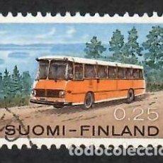 Sellos: LIQUIDACIÓN. FINLANDIA 1971, YVERT 664. AUTOBÚS POSTAL. CORREO. TRANSPORTE CORREO.. Lote 264187684