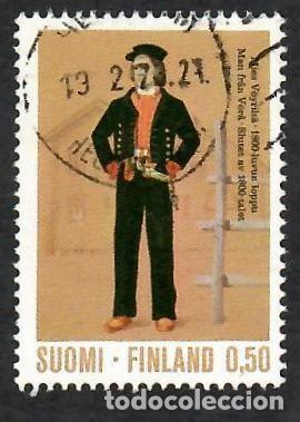 LIQUIDACIÓN. FINLANDIA 1972, YVERT 677. TRAJES NACIONALES, S. XIX. HISTORIA DEL VESTIDO. FOLKLORE. (Sellos - Extranjero - Europa - Finlandia)