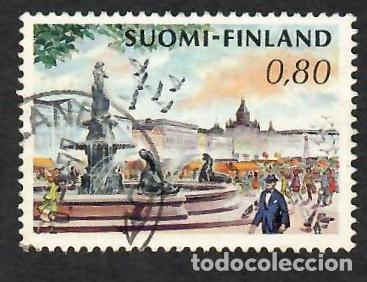 LIQUIDACIÓN. FINLANDIA 1973, YVERT 680. PLAZA SALU HELSINKI. MONUMENTOS. CIUDADES. (Sellos - Extranjero - Europa - Finlandia)