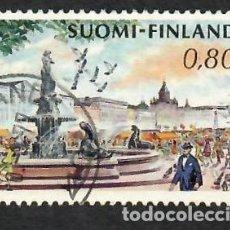 Sellos: LIQUIDACIÓN. FINLANDIA 1973, YVERT 680. PLAZA SALU HELSINKI. MONUMENTOS. CIUDADES.. Lote 264190252
